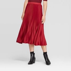 A New Day / Red Pleated Skirt